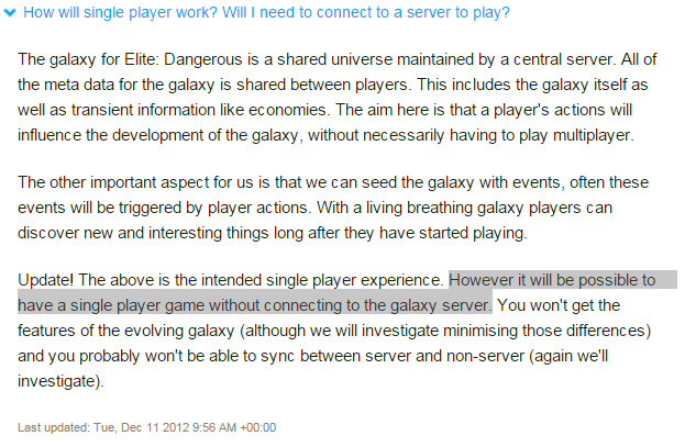 Taken from Frontier's original Kickstarter FAQ. The highlighted wording seems straightforward.